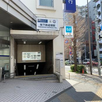最寄りの地下鉄成増駅。副都心線と有楽町線が通ります。