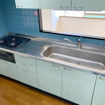 【LDK】3口ガスと、洗い物のしやすいワイドなシンク!