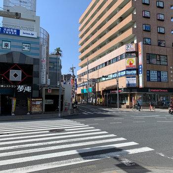 地下鉄成増駅周辺です。すぐ近くに成増駅も。