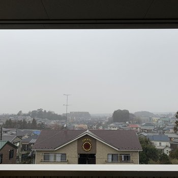 窓からの眺望。開けています。