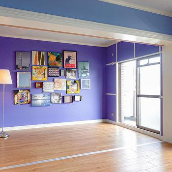 LDのお隣には約5.8帖の洋室。2つのお部屋はドアを開け放して完全にオープンなワンルームにできます。