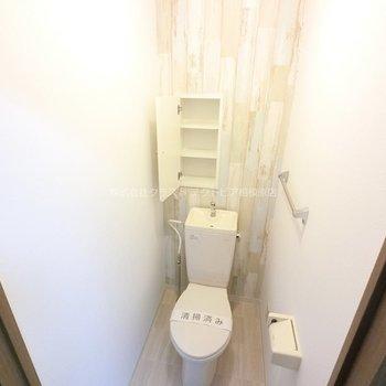 トイレも同じデザインです