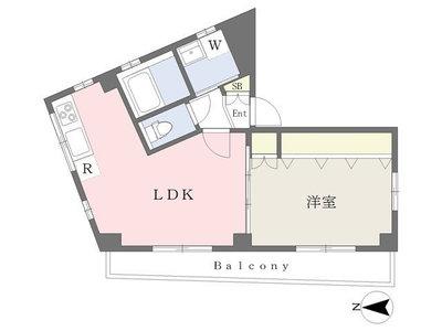 Hakusan HDC Flat の間取り