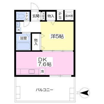 フルリノベーションされた1DKのお部屋。