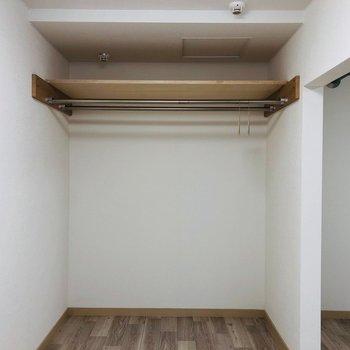 洋室奥にはオープンクロゼット。収納力は抜群です。