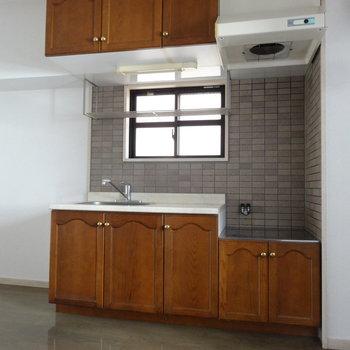 可愛いキッチン。(※写真は3階の同間取り別部屋のものです)