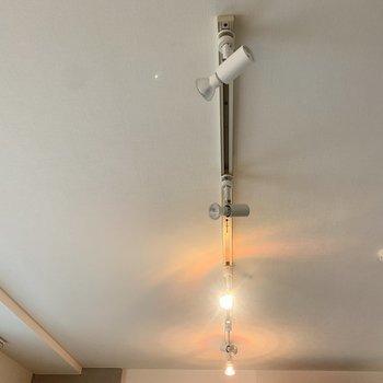 【LDK】スポットライトで光の調節もできますよ。