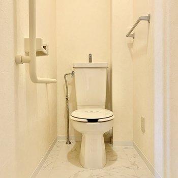 トイレも空間に余裕があります。