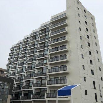 10階建ての大きなマンションです。