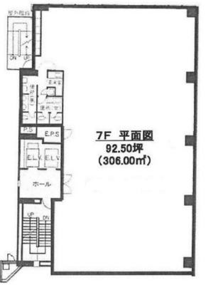 飯田橋 92.50坪 オフィス の間取り