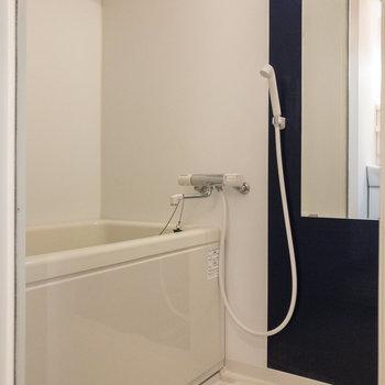 浴室。乾燥機を使うことができます。
