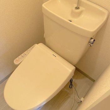 温水洗浄機能付きです!