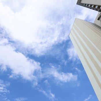ルーフバルコニーなので、上を見上げれば空!気分が沈んだら、バルコニーに出て空を見上げましょう。