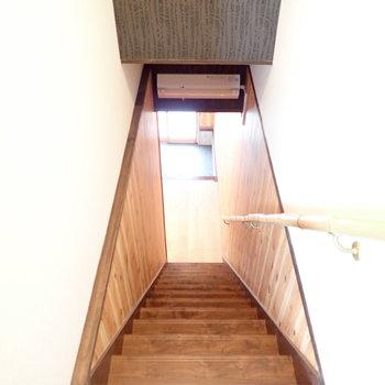 さあ2階へあがりますよ。
