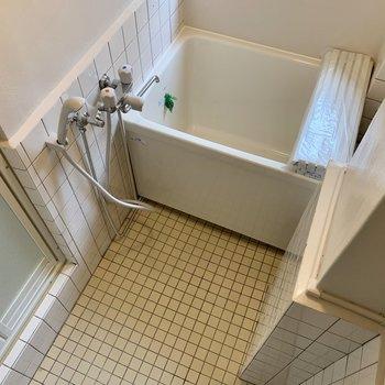 浴槽は小さめですが、洗い場は広かったです。