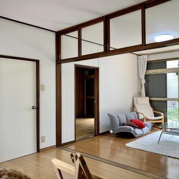 【LDK】仕切りがないので開放的ですね。※家具はサンプルのものです