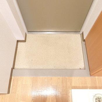 玄関はコンパクト。これもひとりなら問題なしかな。(※写真は4階の同間取り別部屋のものです)