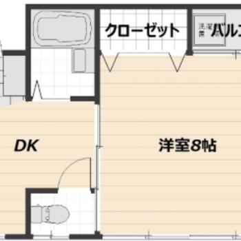 洋室8帖にダイニングキッチンまで◎1人暮らしが充実しそうな予感…!