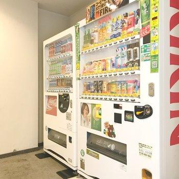 共用部に自動販売機があります。