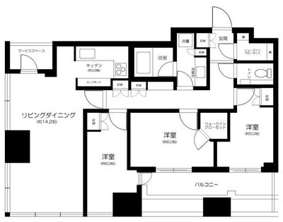 CAPITAL GATE PLACE THE TOWER の間取り