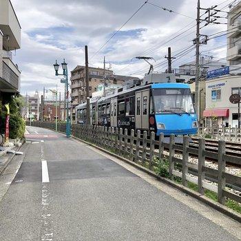 駅までは線路沿いをてくてくと。