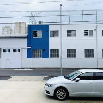 眺望は正面の工場です。