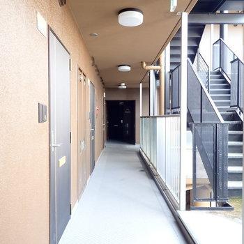 共用部】明るさのある廊下です。