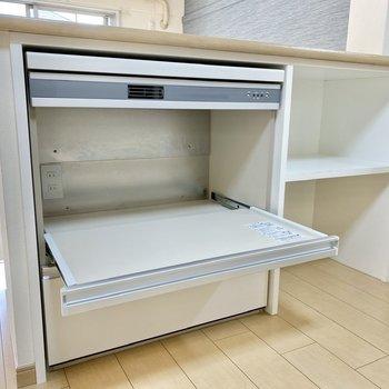 【DK】こちらには炊飯器などの家電を設置できますよ。