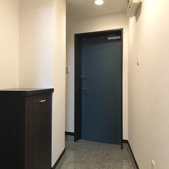 玄関周りはとてもゆとりがあります。