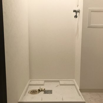 実はここが洗濯機置き場。