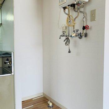 キッチン横に洗濯機スペース