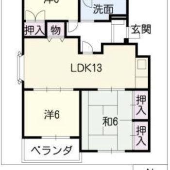 間取りは子ども部屋も仕事部屋も用意できる3LDK。