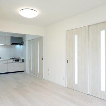 LDKの隣には2つ個室があります。まずは右側から。