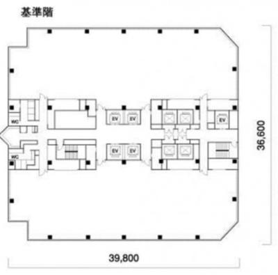 東京ビッグサイト 79.56坪 オフィス の間取り