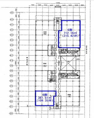 国際展示場 109.35坪 オフィス の間取り