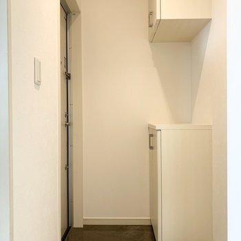 さて、室内の最後は玄関を。玄関は廊下の先に。