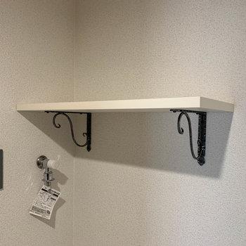 【ディティール】洗濯機置き場やトイレにちょっとした棚。