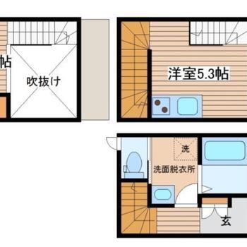 お部屋は3層!ギュッと素敵が詰まったお部屋ですよ〜!