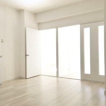 ドアは引き戸と開き扉。まずは引き戸のほうから見てみましょう。
