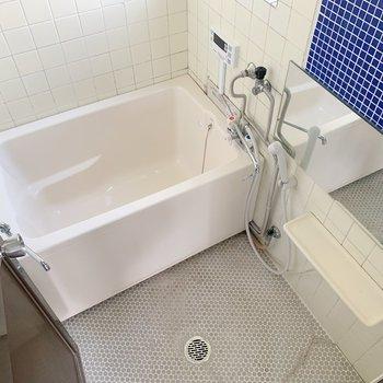 お風呂は若干こじんまり感じるかな?浴槽にはゆったり浸かれそうです。
