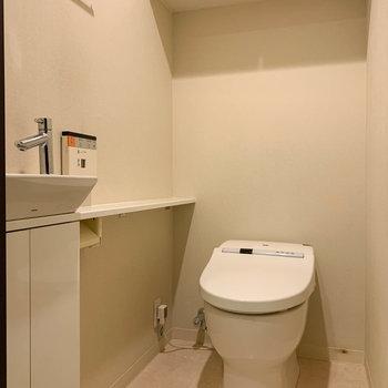 トイレ内にも手洗い場つき。