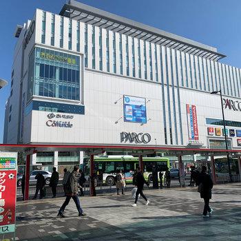 商業ビルが複数あります。