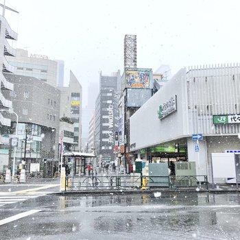 もう一つの最寄り、代々木駅です。 お店が多くてとても便利です。