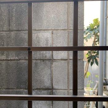 洋室の窓からの眺望。