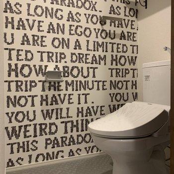 トイレの個室も広めの作り。温水洗浄便座付きです!