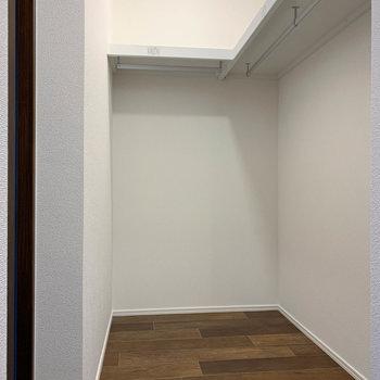 ウォークインクローゼットがあります!左側に洋室への扉も。