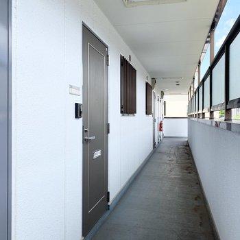 きちんと整備された共用廊下です。