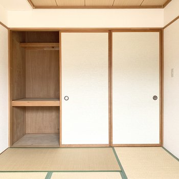 【和室】衣装ケースなどを入れると使いやすいですよ。