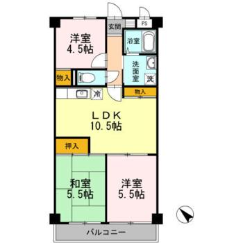 和室のある3LDKのお部屋です。
