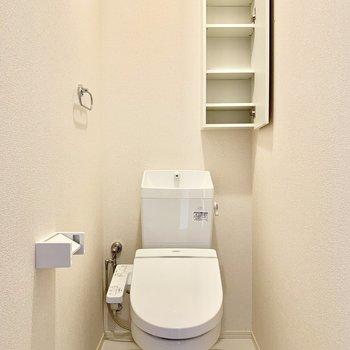 トイレットペーパー類もすっきり収納できますね。